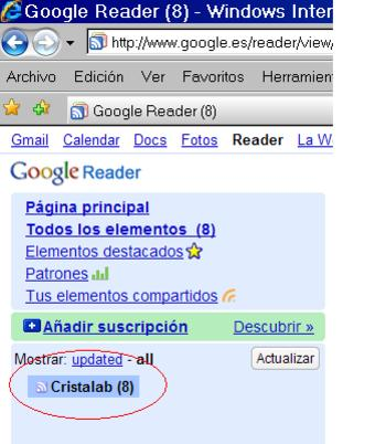 RSS reader online lector feed canales web